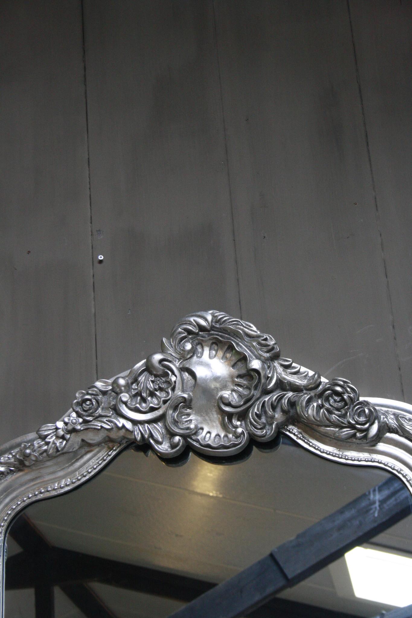 Kuifspiegel Barok Roma Zilver 117 x 80 cm-3