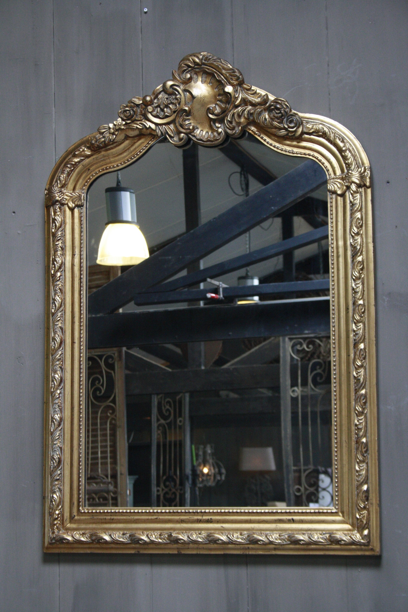 Kuifspiegel Barok Roma Goud 117 x 80 cm-2