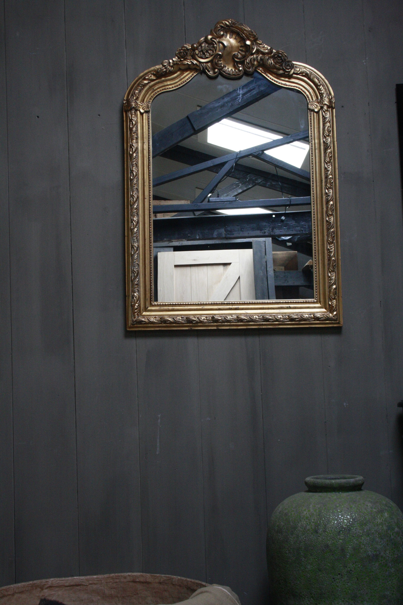Kuifspiegel Barok Roma Goud 117 x 80 cm-1