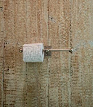 Dauby Dubbele toiletrolhouder mat wit brons 35 cm