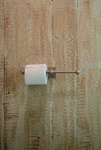 Dubbele toiletrolhouder mat wit brons 35 cm