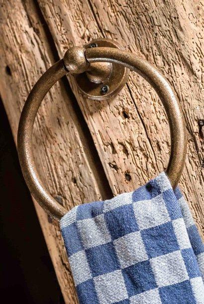 Handdoekring Ruw Brons