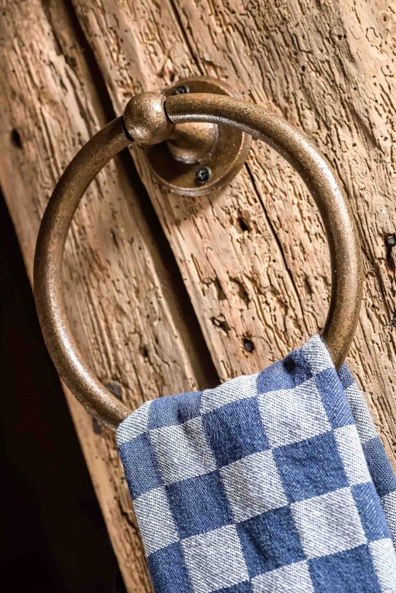 Handdoekring Ruw Brons-1
