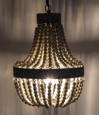 Rene Houtman Kralen Hanglamp Wit S Rosalie 40 x 30,5 cm