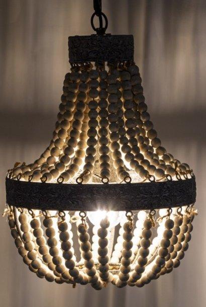 Kralen Hanglamp Wit S Rosalie 40 x 30,5 cm