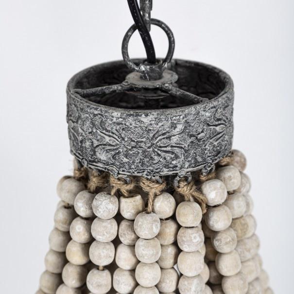Kralen Hanglamp Wit S Rosalie 40 x 30,5 cm-4