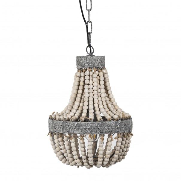 Kralen Hanglamp Wit S Rosalie 40 x 30,5 cm-6