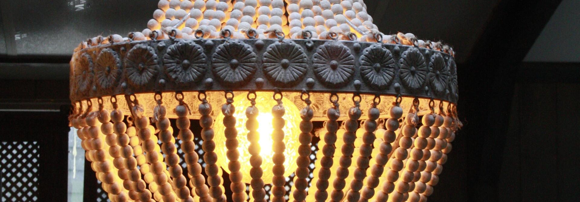 Kralen Hanglamp Wit XL Rosalie 62 x 51 cm