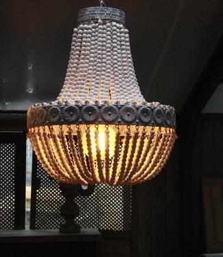 Rene Houtman Kralen Hanglamp Wit XL Rosalie 62 x 51 cm