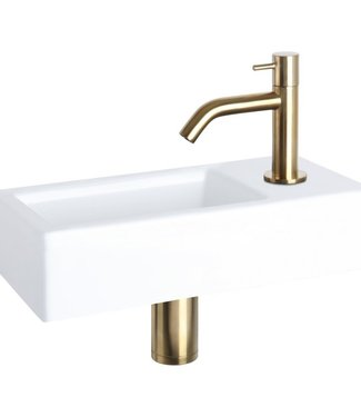 Rene Houtman Davido fonteinset - keramiek - kraan mat goud