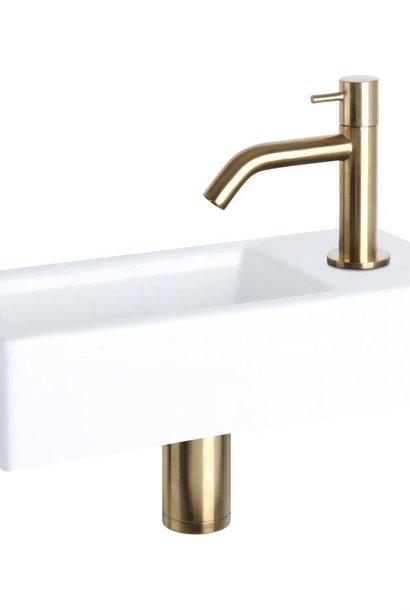 Davido fonteinset - keramiek - kraan mat goud