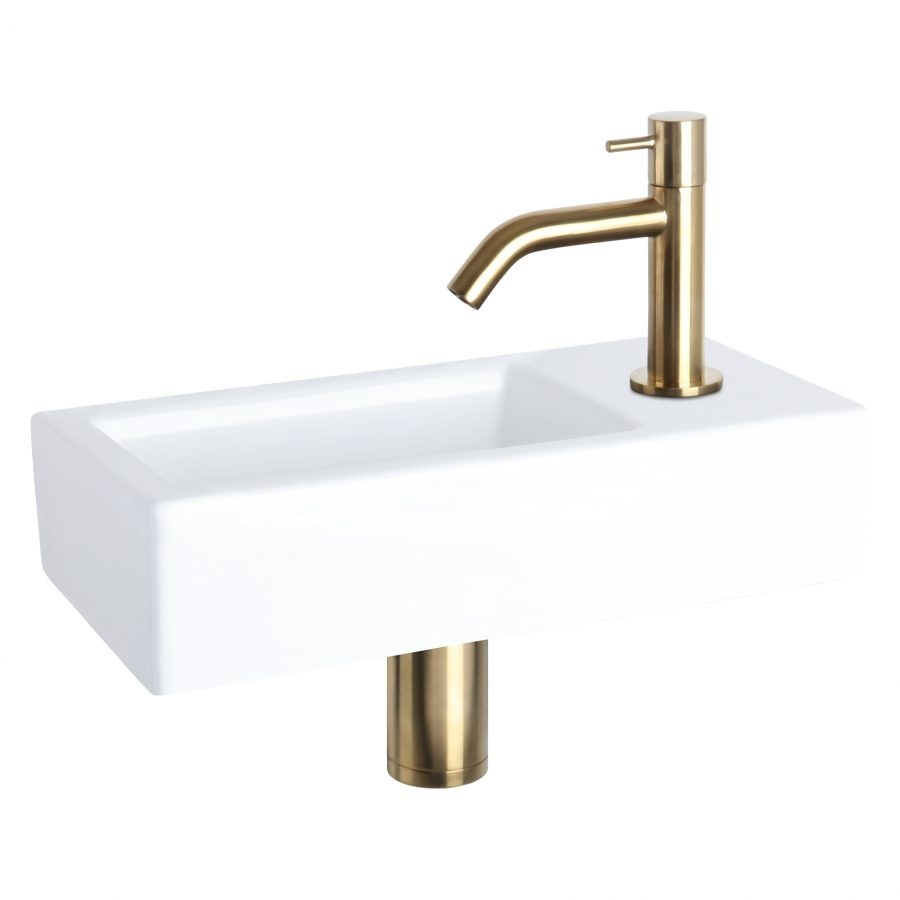 Davido fonteinset - keramiek - kraan mat goud-1
