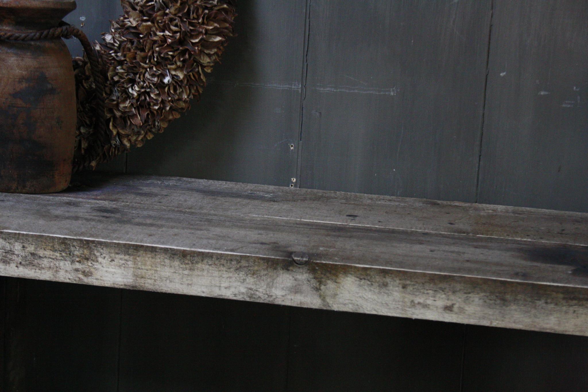 Massief oud houten wandtafel/sidetable Liedi-8