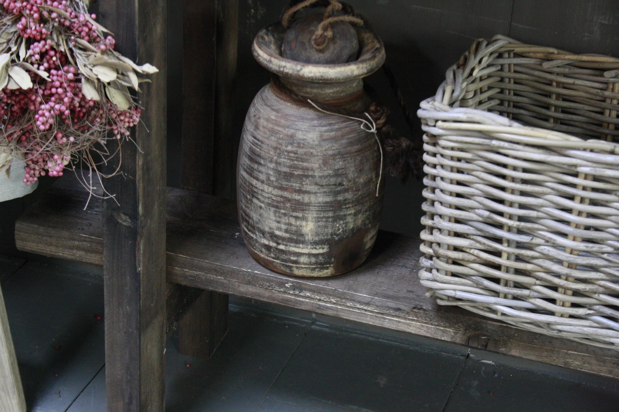 Massief oud houten wandtafel/sidetable Liedi-10