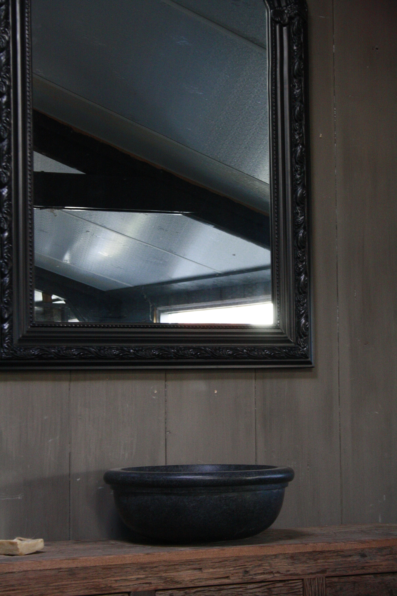 Kuifspiegel Barok Roma Black 117 x 80 cm-5