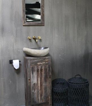 Rene Houtman Oud Eikenhouten Toiletmeubel 90 x 40 x 30 cm