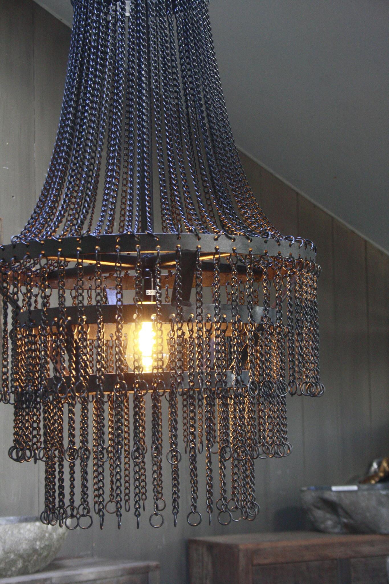 Landelijk metalen hanglamp Katie 65 x 50 cm-3