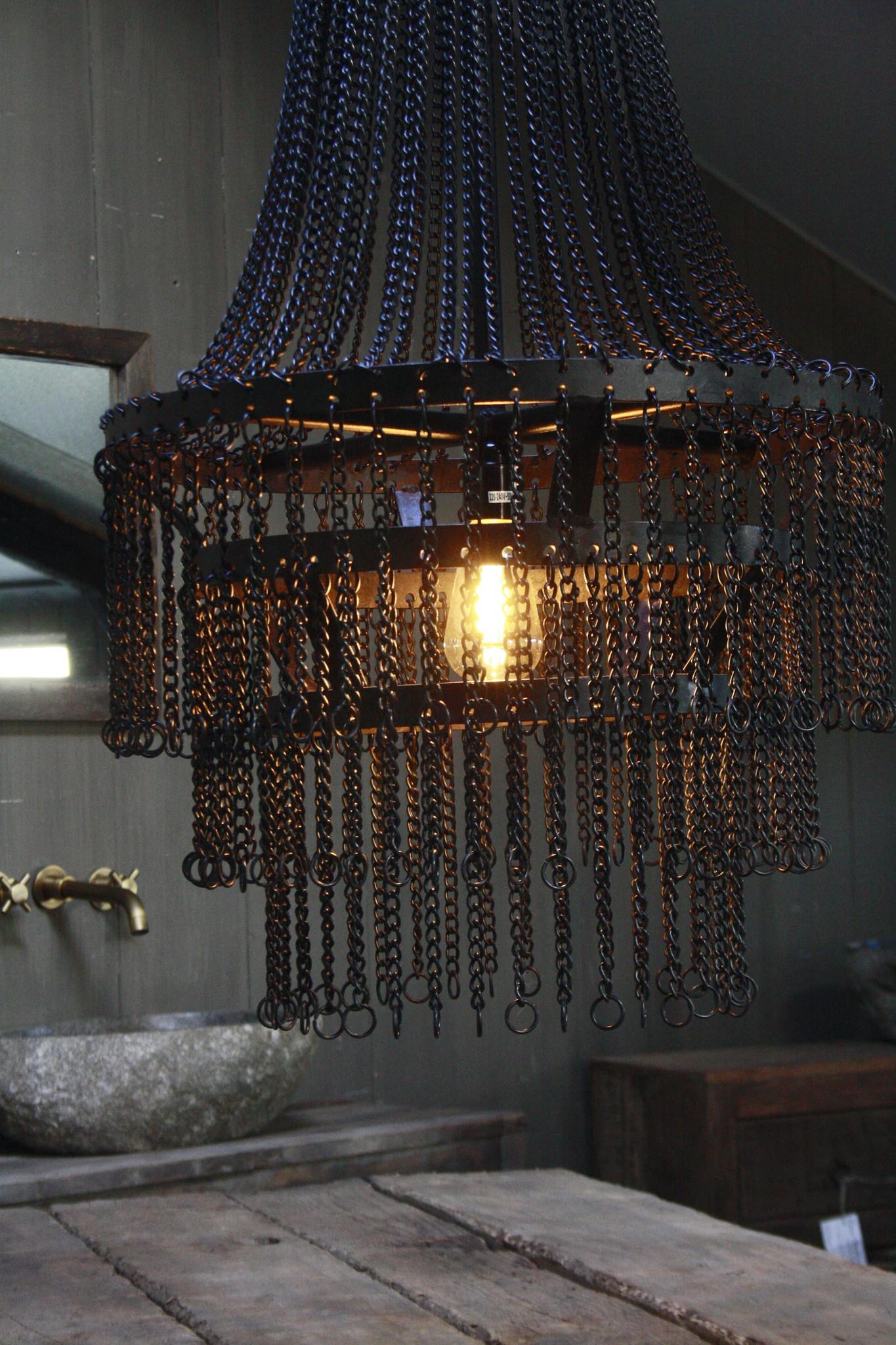 Landelijk metalen hanglamp Katie 65 x 50 cm-2