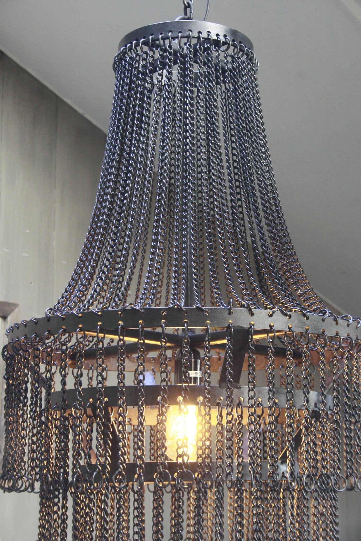 Landelijk metalen hanglamp Katie 65 x 50 cm-4