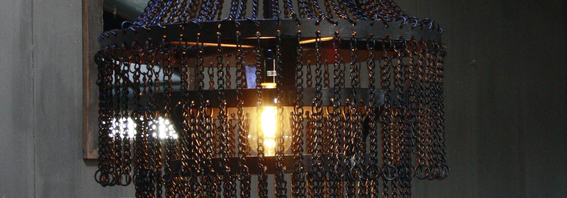 Landelijk metalen hanglamp Katie 65 x 50 cm