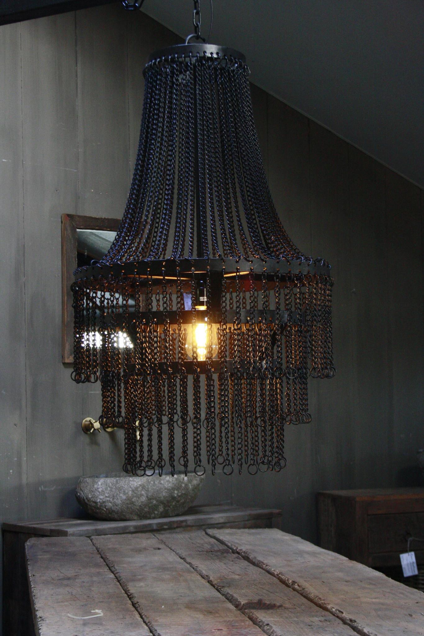 Landelijk metalen hanglamp Katie 65 x 50 cm-1