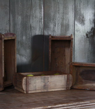 Rene Houtman Oude houten brickmall L32 x B15 x H9 cm