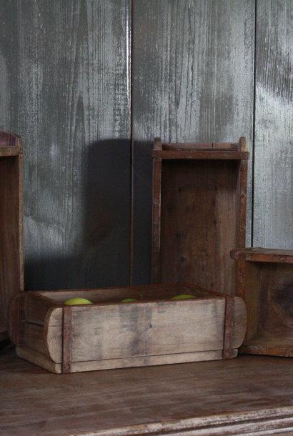 Oude houten brickmall L32 x B15 x H9 cm
