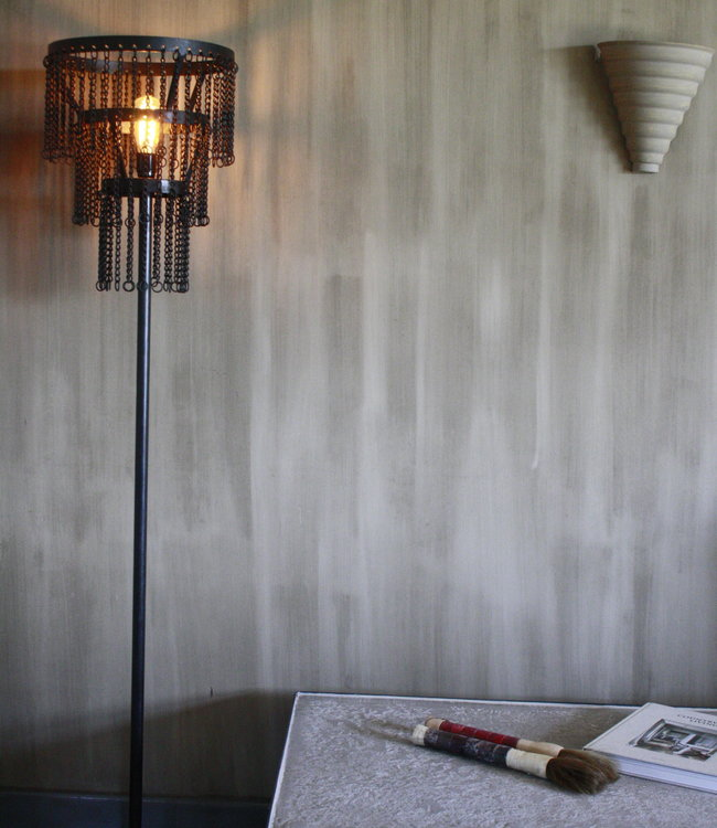 Rene Houtman Stoere metalen vloerlamp Katie L170 x B30 cm