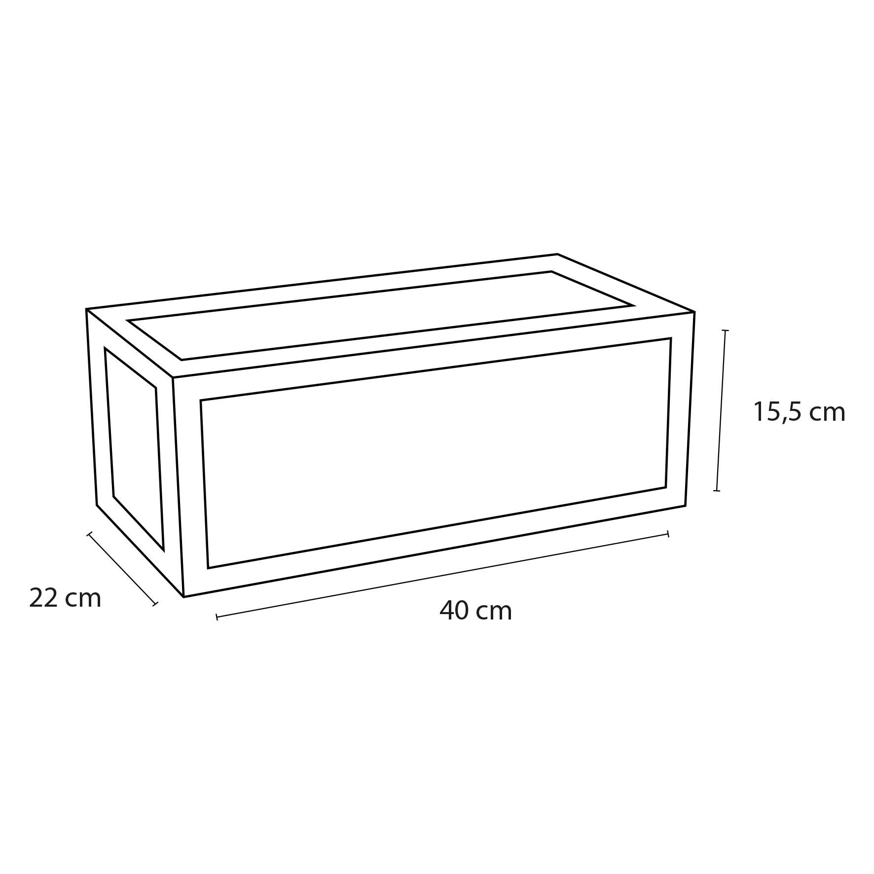 Handdoekrek Fontein 40x20 cm Zwart-4