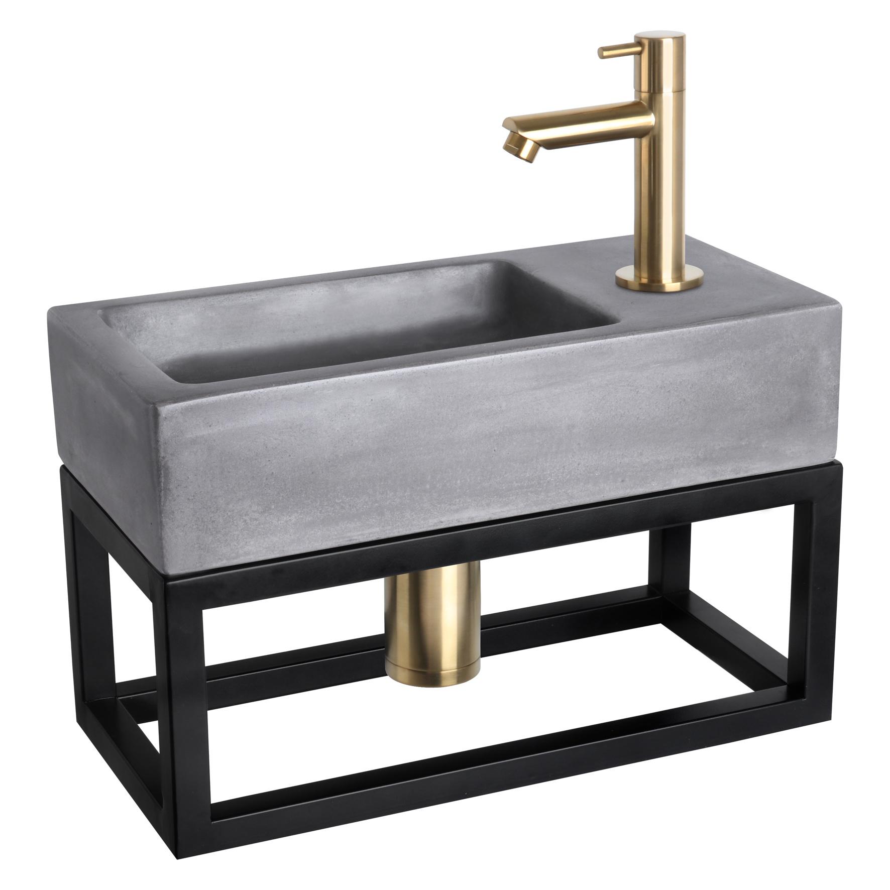Handdoekrek fontein 38.5 x 18.5 cm Zwart-3