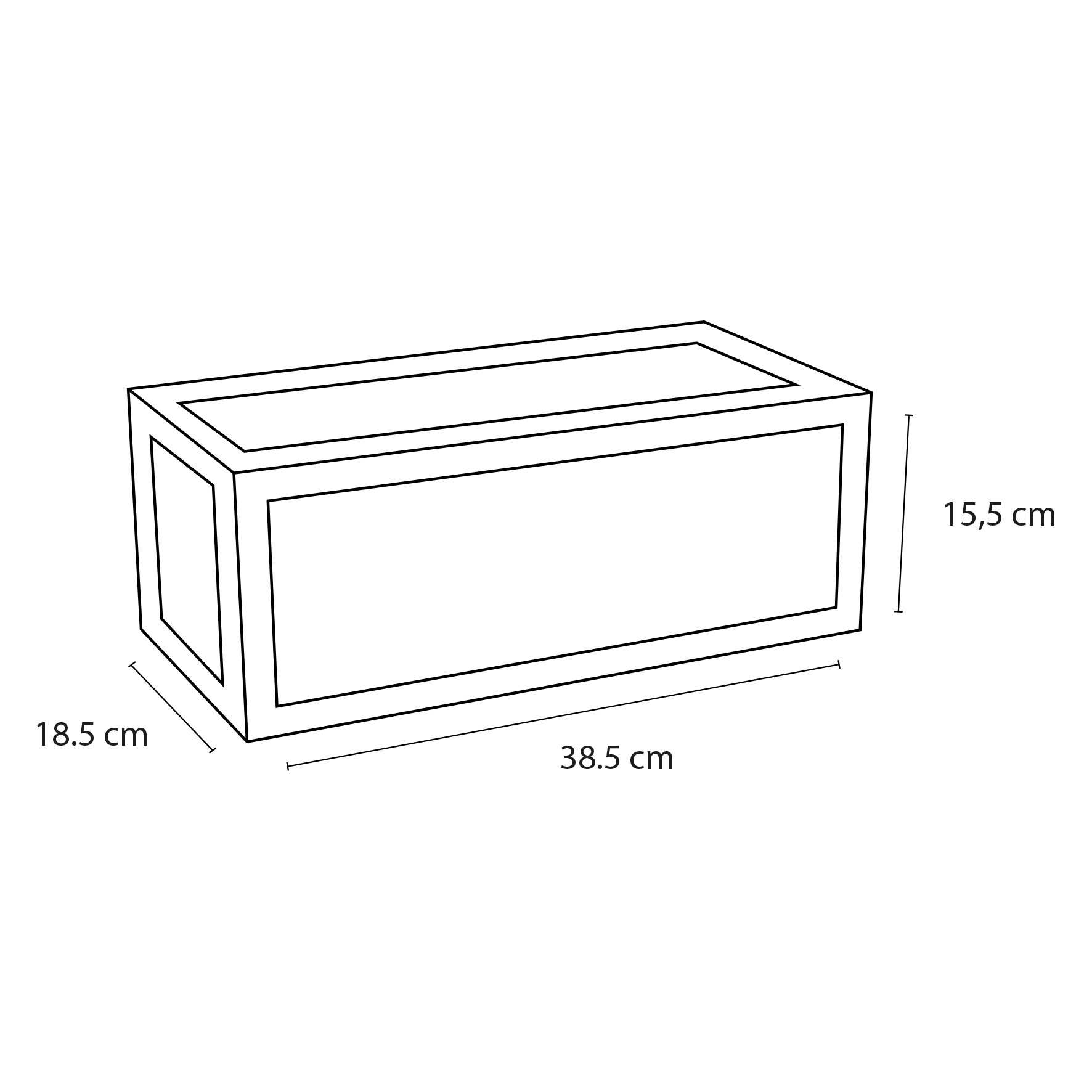 Handdoekrek fontein 38.5 x 18.5 cm Zwart-4