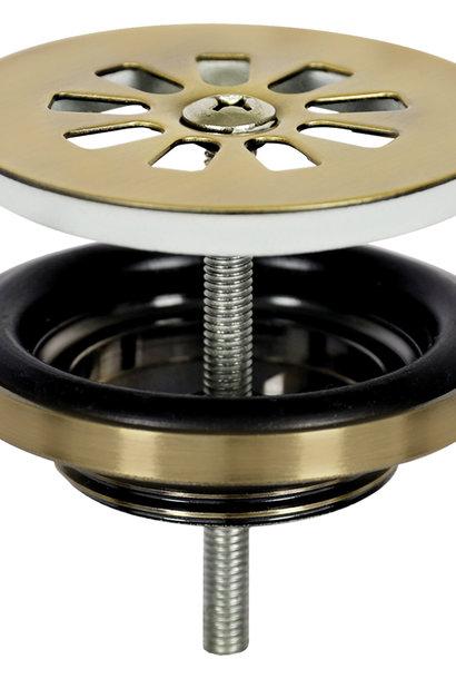 Afvoerplug – Mat goud 64 mm