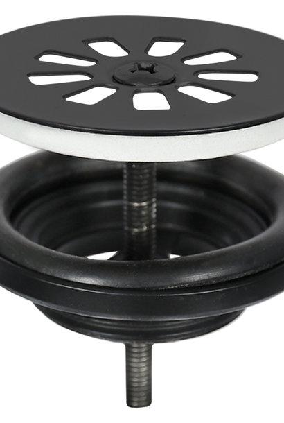 Afvoerplug – Mat zwart 64 mm
