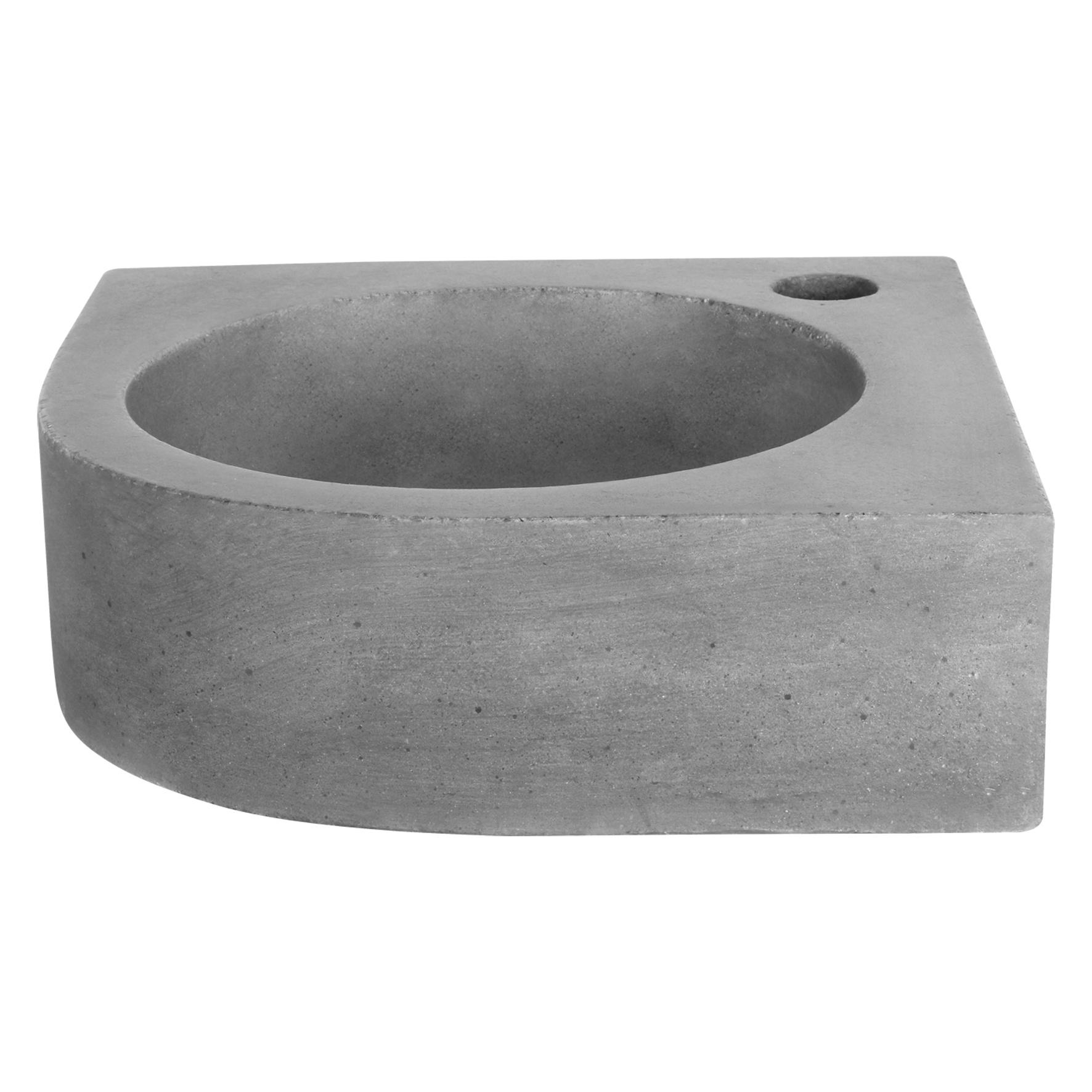 Cleo hoekfontein – Beton donkergrijs 31,5 x 31,5 x 10 cm-2