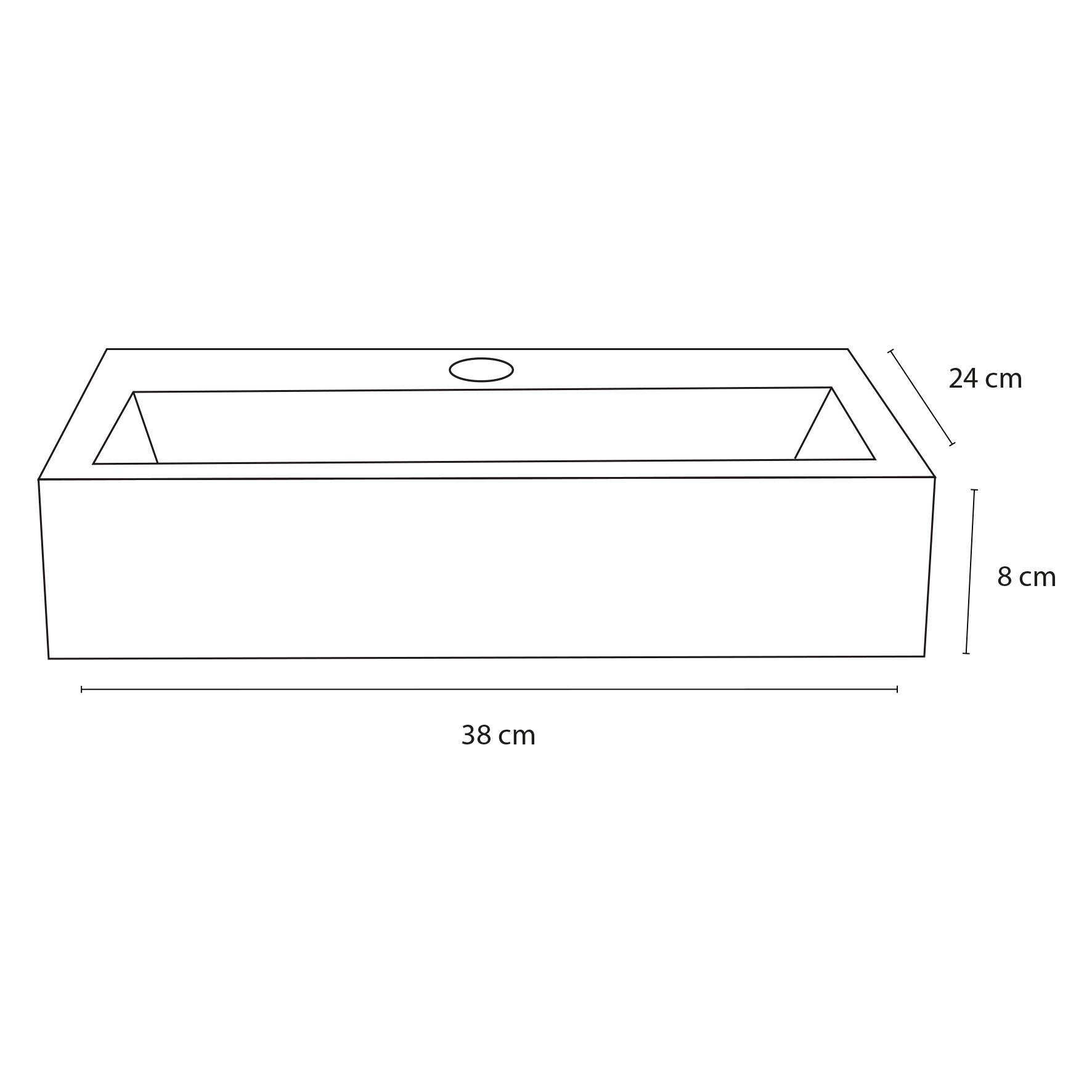 Flat fontein – Beton lichtgrijs 24 x 38 x 8 cm-3