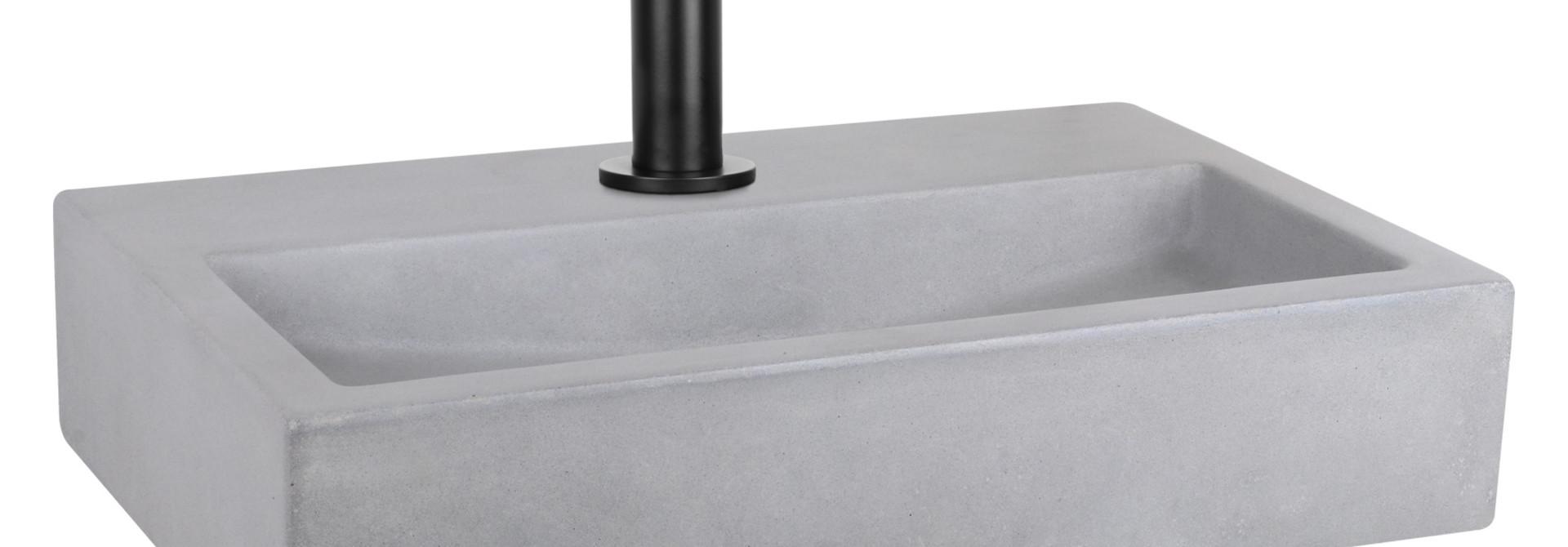 Flat fontein – Beton lichtgrijs 24 x 38 x 8 cm
