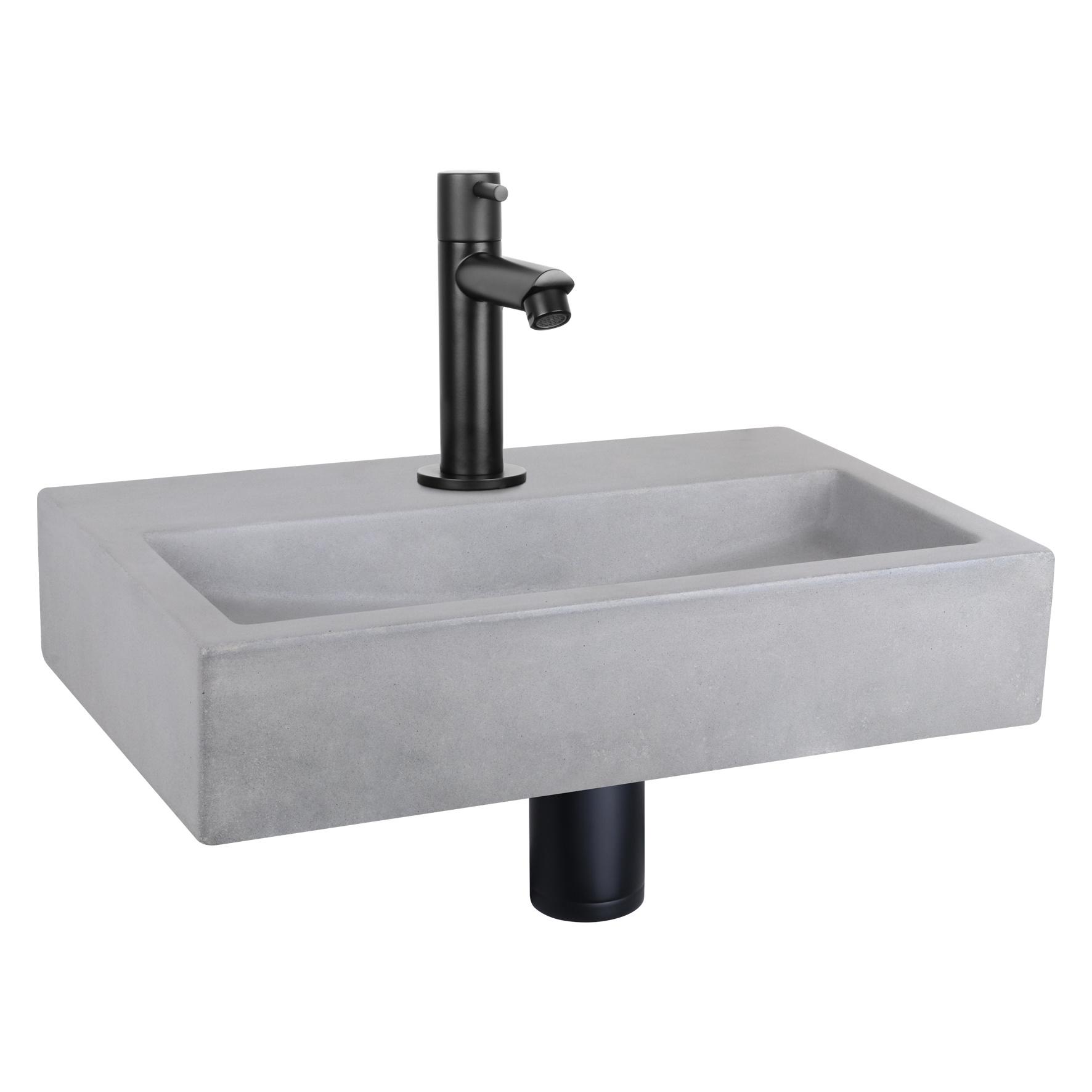 Flat fontein – Beton lichtgrijs 24 x 38 x 8 cm-1
