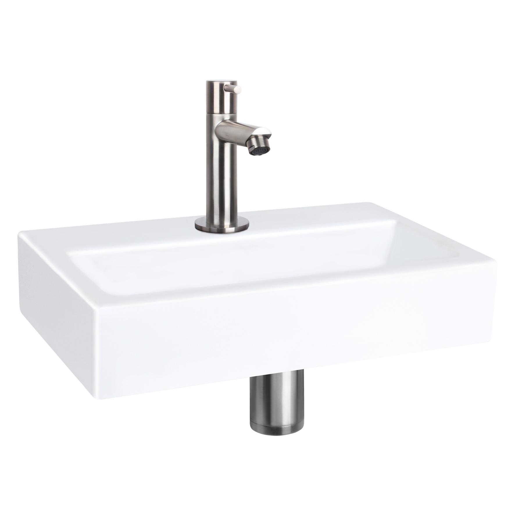 Flat Small fontein – Keramiek wit 24 x 38 x 7 cm-2
