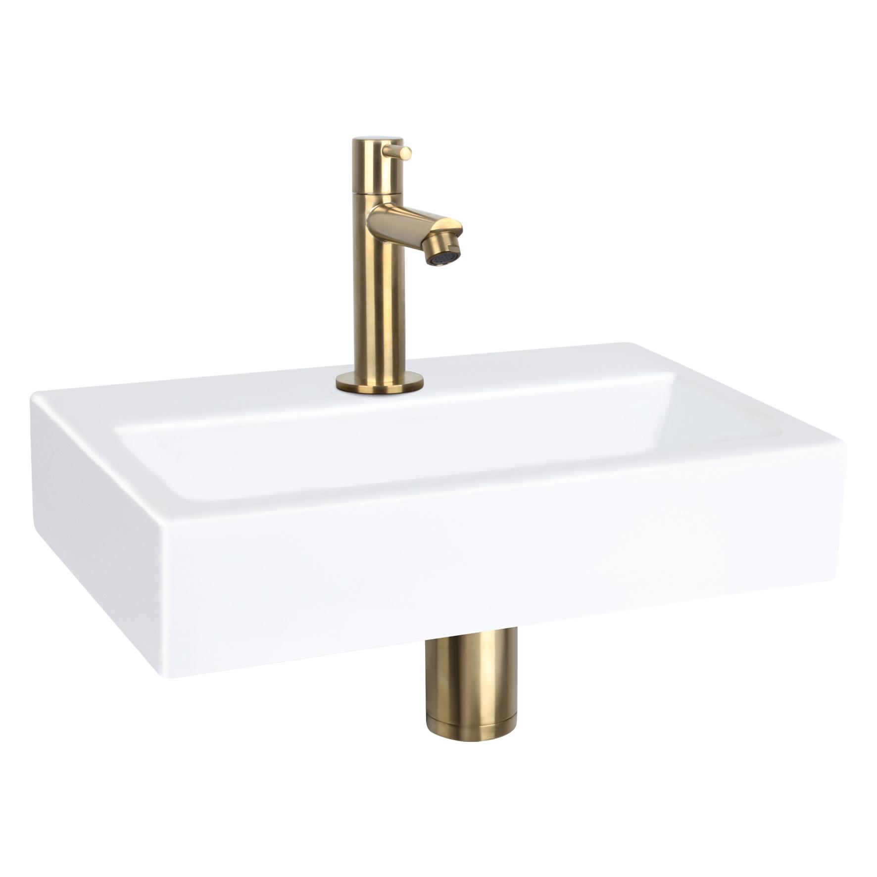 Flat Small fontein – Keramiek wit 24 x 38 x 7 cm-5