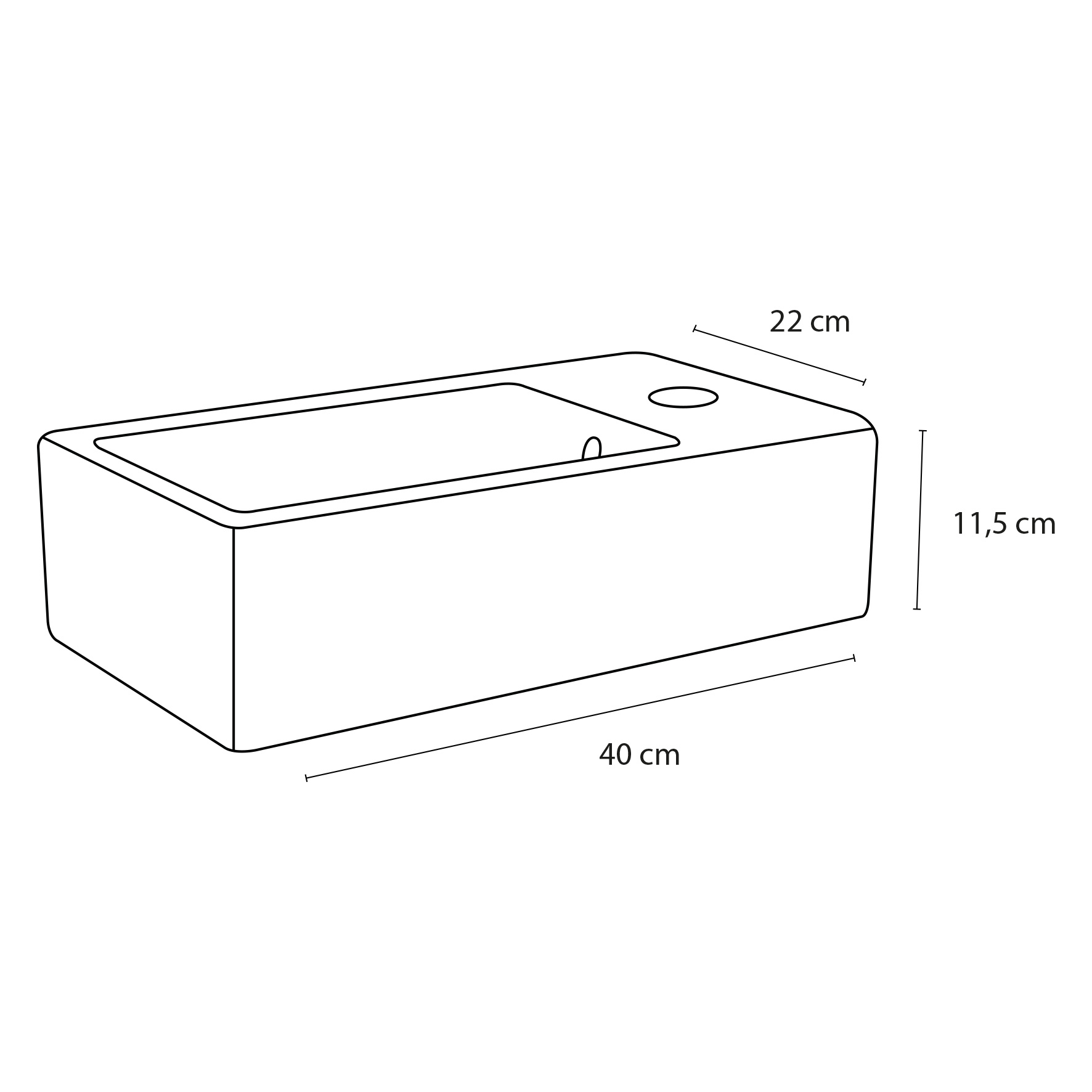 Force fontein – Keramiek wit 22 x 40 x 11,5 cm-3