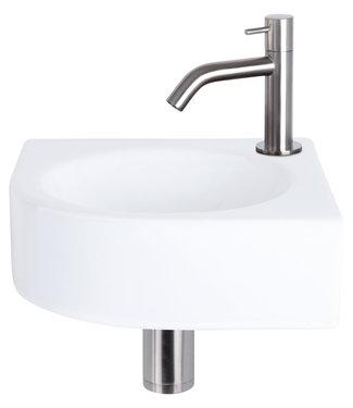 Differnz Cleo hoekfontein – Keramiek wit 30 x 30 x 10 cm