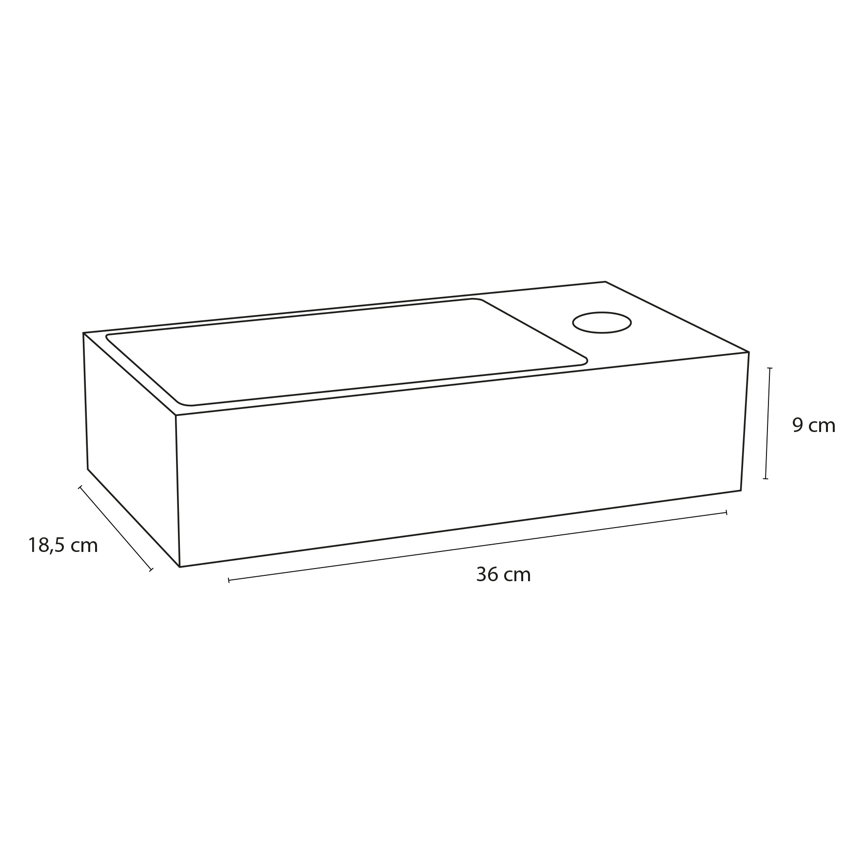Solid fontein – Solid surface 18,5 x 36 x 9 cm-3
