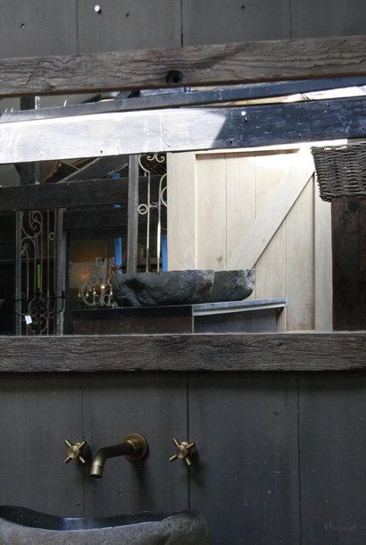 Oud Eikenhouten Spiegel L134 x H65 x D4,5 cm