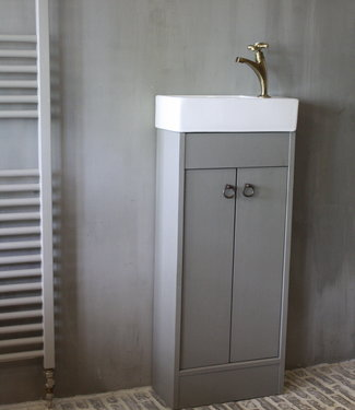 Rene Houtman Landelijk toiletmeubel + fontein wit 90 x 38 cm