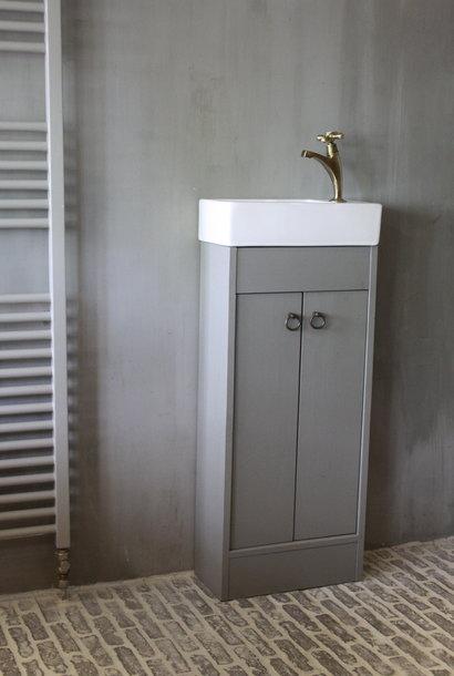Landelijk toiletmeubel + fontein wit 90 x 38 cm