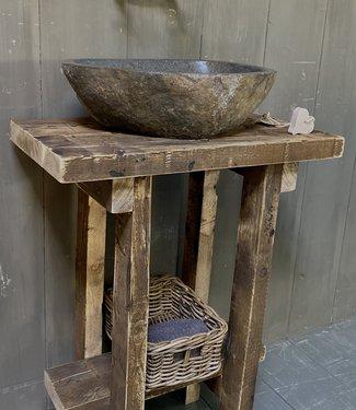 Rene Houtman Massief oud houten toiletmeubel Liedi - Small -
