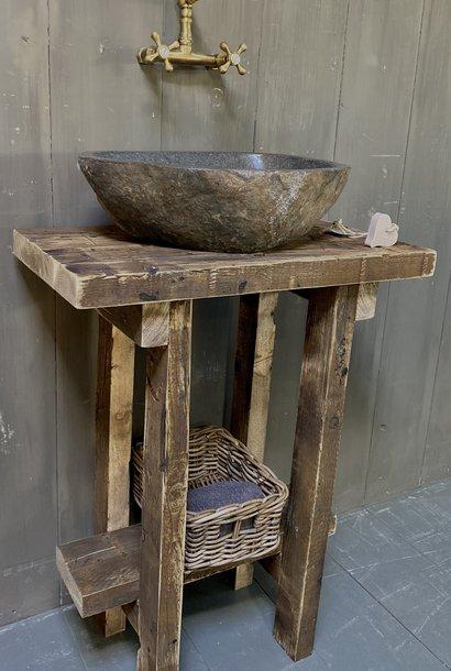 Massief oud houten toiletmeubel Liedi - Small -