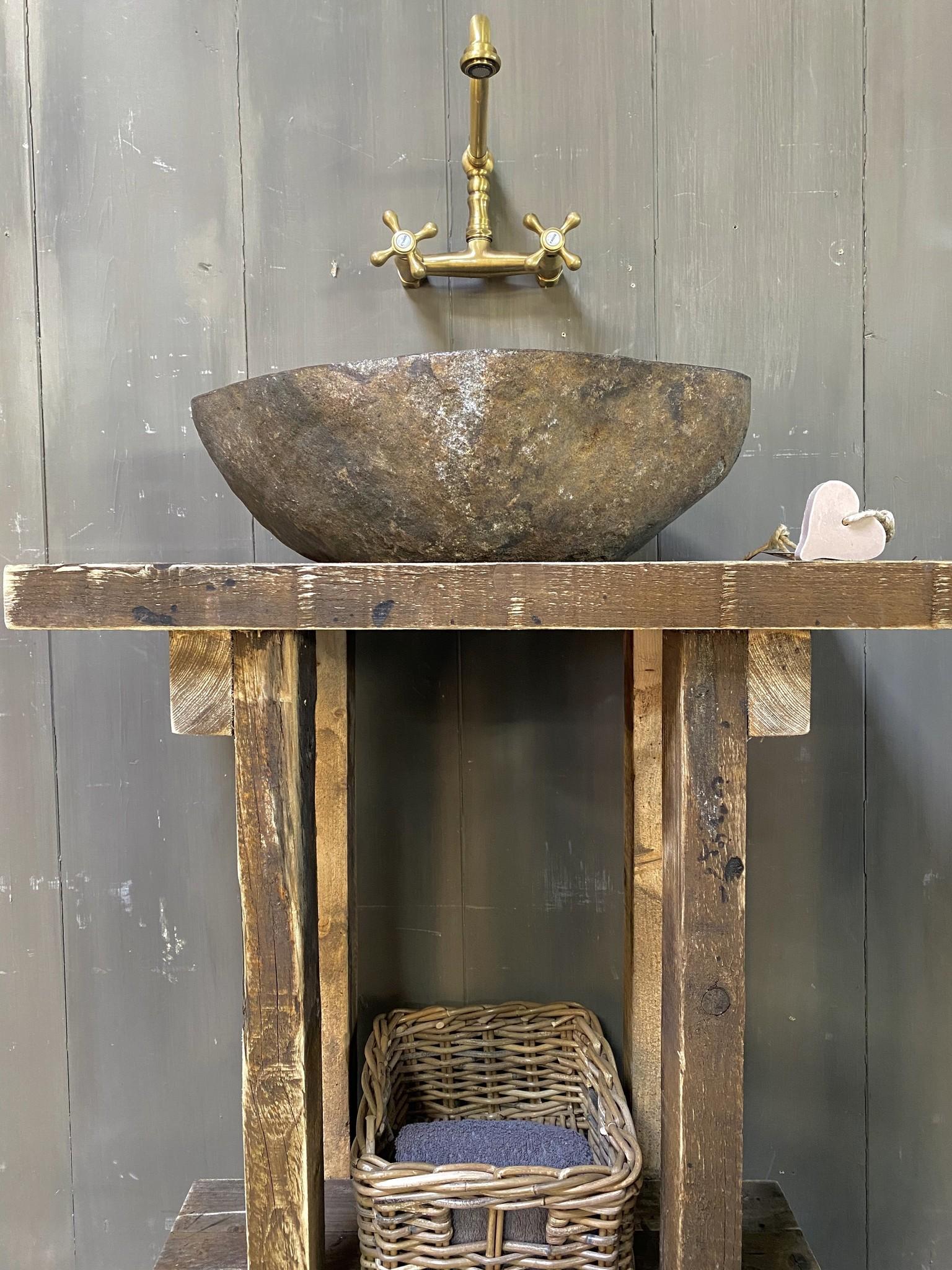 Massief oud houten toiletmeubel Liedi - Small --4