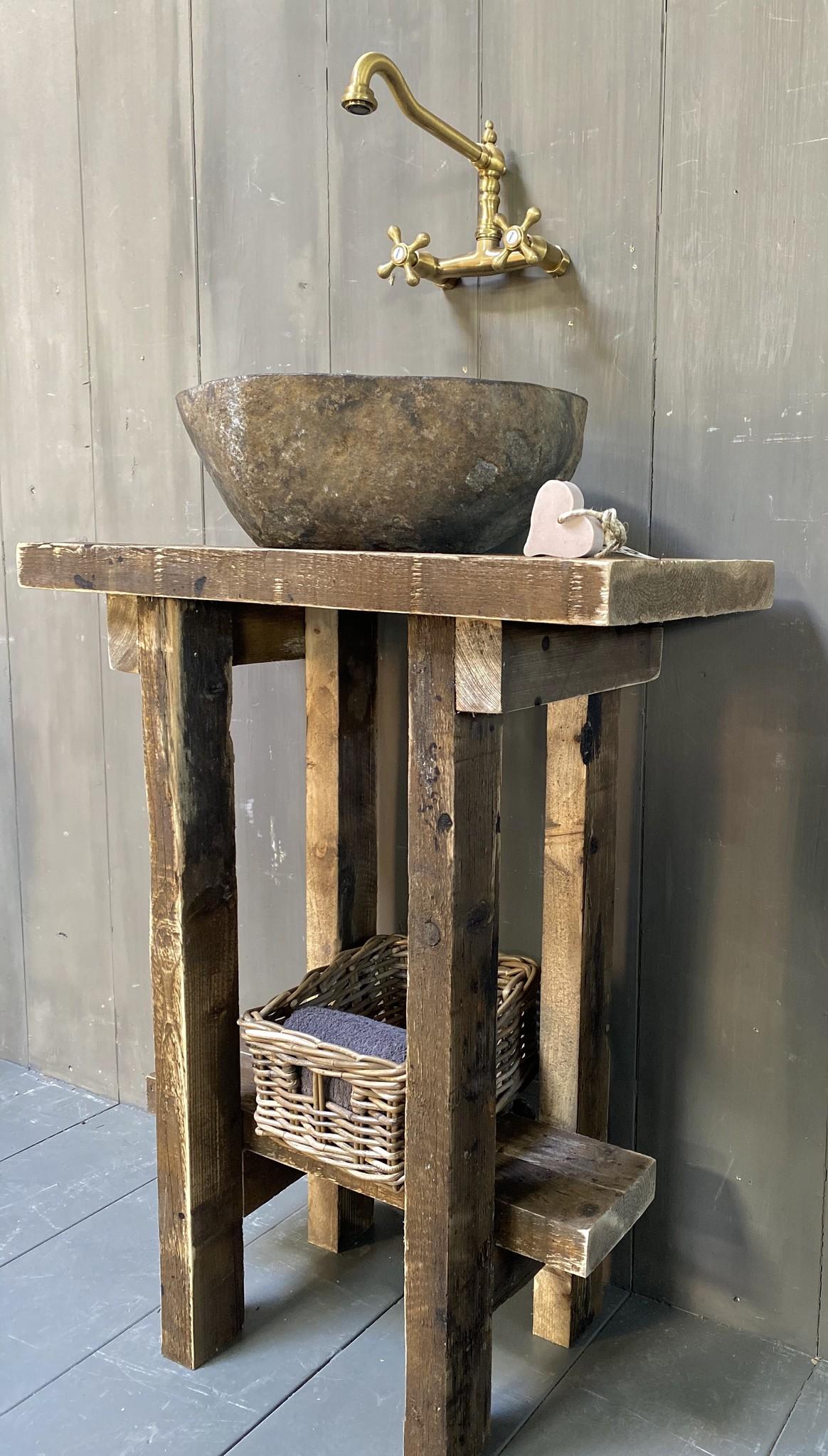 Massief oud houten toiletmeubel Liedi - Small --2