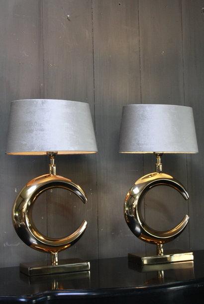 Tafellamp Goud Rond + Velours kap Eric Kuster